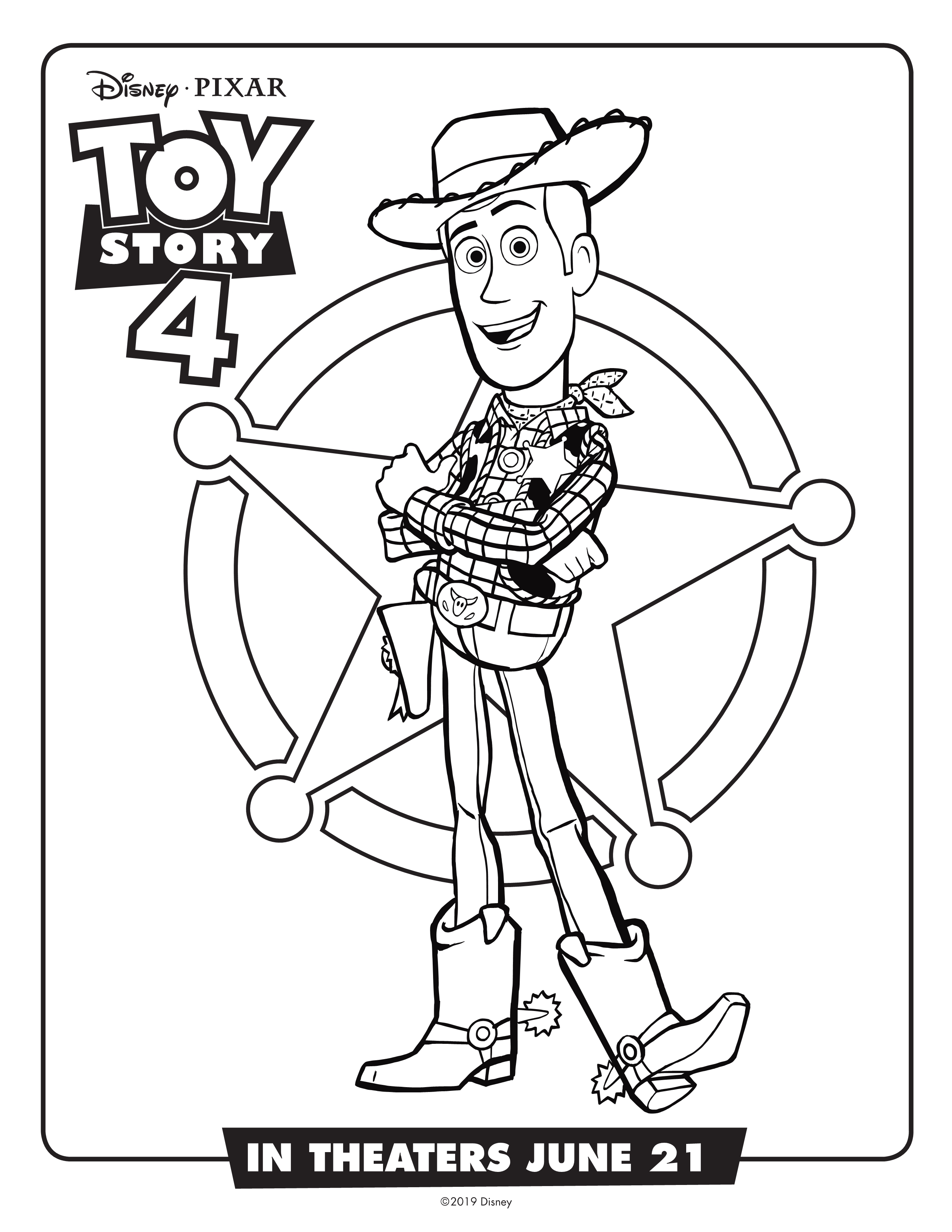 picture relating to Toy Story Printable Coloring Pages referred to as Choose Organized for Toy Tale 4 with Free of charge Printable Pursuits